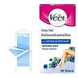 Veet Kaltwachsstreifen mit Easy-Gelwax Technology – Geeignet für sensible Haut – Anwendung für...