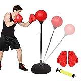 Ejoyous Punchingball Erwachsene Boxtraining Set Punching Punchingball Boxen Set Höhe verstellbar...