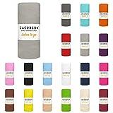 Jacobson Laken to GO Spannbettlaken Jersey Bettlaken Spannbetttuch 90x200 cm - 100x200 cm (Grau)
