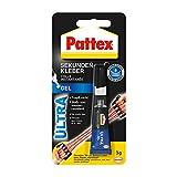 Pattex Sekundenkleber Ultra Gel, extra starker & flexibler Superkleber, stoß- & wasserresistentes...