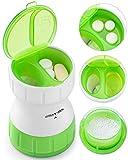 Tablettenteiler, BUG HULL Tablettenmörser Keramik mit Vorratsfach Pillenmörser für kleine und...