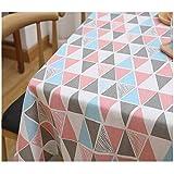 Unbekannt Vintage Rechteck Baumwolle Leinen Tischdecke Holz Streifen Esstisch Tuch Home Hotel Cafe...