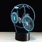 USB Led 3D Fahrradlampe Stereo und Licht Acryl Geburtstagsgeschenk Energienbank Abajur Nachtlicht...