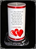 Cellini Let's Share The World Kerze, 2 rote Herzen, limitierte Auflage für einen besonderen Anlass