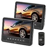 AEG portabler DVD-Player DVD 4555, 2X 17,8 cm (7 Zoll) LCD-Monitor, USB-Port, Card Slot,...