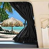 Universal Fit Auto Van SUV VIP Fenster Vorhang Anti-UV Sonnenschutz Visier Vorhänge(schwarz)
