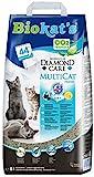 Biokat's Diamond Care MultiCat Fresh mit Duft - Feine Katzenstreu mit Aktivkohle speziell für...