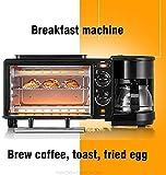 LXYZ Brotmaschine, 3 In 1 Home Frhstcksmaschine Kaffeemaschine Elektroofen Toaster Grillpfanne Brot...