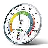 airself Thermohygrometer analog für innen – Raumthermometer und Feuchtigkeitsmesser in einem –...