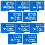 Everything But Stromboli MicroSD-Speicherkarte und Adapter, 32 GB, Klasse 10, U1, UHS-1, TF Bulk...