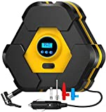 MWKLW Luftkompressor-Autopumpen fr Reifen, tragbare Reifenpumpe mit LED-Licht, Gleichstrom 12 V, 150...
