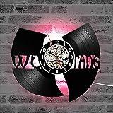 Vinyl Schallplatte Wanduhr modernes Design Wu Tang HIP-HOP Band heie CD Schallplatte LED Uhr 7...