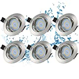 Kohree 6er Schwenkbar LED Einbaustrahler Flach 230V warmweiß 3000K ohne Trafo LED Einbauleuchte...