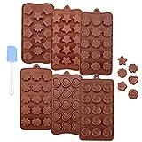 Ninonly Schokoladenform 6er Set aus Silikon 89 Hohlraum Silikon Pralinenformen Verschiedene Formen...