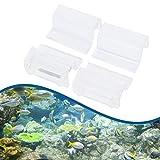 4 Stücke Aquarium Abdeckung Aquarium Glasabdeckung Clip Deckel Clips für Randlose Aquarien Klar...