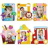 Bastelset Kinder, Yuccer 6 PCS Bilderrahmen Set Bilderrahmen zum Selbstgestalten Kindergeburtstag...