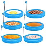 FTUNG Ei Ring 6 Pack Spiegeleiform fr Bratpfanne Ei Ringe Silikon Pfannkuchenform Rund Omelett Form...