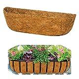 Trog Coco Liner,Vorgeformter Ersatz Kokosfaser Liner,Natürlicher Kokos Kokos Pflanzer für...