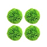 Glacie 4Pcs Java Moss Ball, Java Moss marimo Moss Ball Stone for Fish Tank Aquarium Artificial Water...