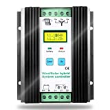 SolaMr 1000W Solarladeregler Wind Energy Solar Hybrid Laderegler 12V/24V Automatische Identifikation...