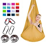 Viktion Authentische 4m*2.8m Anti-Gravity-Yoga Set Aerial Yoga Tuch Hängematte Aerial Yogatuch...