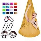 Viktion 4m*2.8m Anti-Gravity-Yoga Set Aerial Yoga Tuch Hngematte Aerial Yogatuch (Gold)