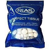 Original Rias 100 Stück Trockentücher in Form von Tabletten, Handtuchpillen, 100% biologisch...