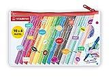 Mäppchen mit Filzschreibern - STABILO pointMax - Stifte im Mäppchen - 14 Farben - inklusive 4...