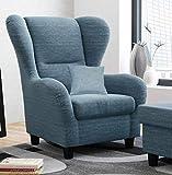lifestyle4living Ohrensessel in blau im Landhausstil | Der perfekte Sessel fr entspannte, Lange...
