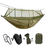 SHLYXY Hngematte Outdoor,102 * 55 Zoll mit Netz, Seile,Ultralight Outdoor Camping Jagd Hngematte...