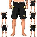 Elite Sports Herren MMA Fight Shorts Star Series UFC BJJ No Gi Grappling Jiu Jitsu Shorts, Herren,...