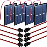 RUNCCI-YUN 4 Stück 1.5V 0.65W 60X80mm Mikro-Mini-Solar-Panel-Zellen Sonnenkollektor für...