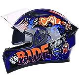 Motocross-Helm, Road Off-Integralhelm, Modehelm für Motorrad-ATV-Motorrad-Enduro,...