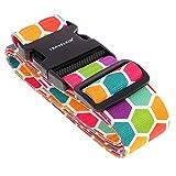 MagiDeal Regenbogen Verstelbarer Koffergurt Gepäckgurt, 5 x 200 cm - # 1