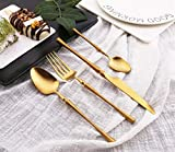 CJTZMLA11 Schön Haushalt Edelstahl-Besteck Messer und Gabel Löffel Taille Steak Messer und Gabel...
