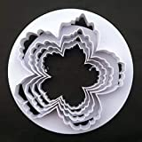 Große Pfingstrosen-Blütenblätter-Formen, 4-er Set, Blütenpaste, Blumen, Kuchen dekorieren,...