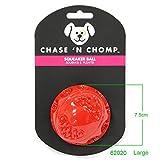 wuxu713 Hundespielzeug, quietschender Ball, robust, schwimmfähig, federnd, quietschend, für kleine...