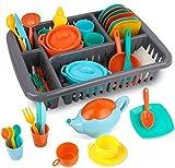 MerryXGift 41pcs Küchenspielzeug Kinderküche Zubehoer Teeservice Set Kochgeschirr Puppengeschirr...