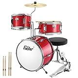 Eastar Schlagzeug Kinder 3-teilig für 3-10 Jahre, schlagzeug set mit Snare, Tom, Bass Drum, Bass...