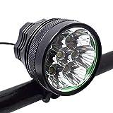 buyaolian 10000lm 7 * XML T6 LED Fahrrad Vorderlicht Taschenlampe 9600mAh Akku Fahrrad Scheinwerfer...
