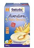 Bebivita Milchbreie ohne Zuckerzusatz-Großpackung, Abendbrei Keks-Banane, 4er Pack (4 x 500 g)