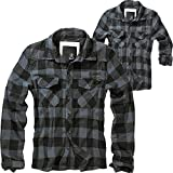 Brandit Check Shirt Herren Baumwoll Hemd 4XL Black-grey