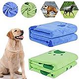 bangminda Hundehandtuch, 2 Pack Großer Weich Hunde Handtuch, Microfiber Schnelltrocknend Warm...