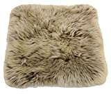 Reissner Lammfelle Engel Naturfelle Sitzauflage DIANA-40-CAP aus Lammfell hochwollig quadratisch...