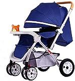 DAGCOT Leichte Kinderwagen mit Tablett, for Neugeborene und Kleinkind -Convertible Reclining...