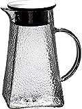 Teekanne 1,2 Liter Wasserkrug Glaskaraffe Borosilikatglas Wasserkaraffe Kalter Eistee Wasserkessel...