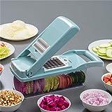 Gemsehacker Slicer Dicer, 12-in-1 Obst Cutter Nahrungsmittelzerhacker Slicer mit Vorratsbehlter Kche...