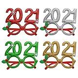 Wosiky Weihnachtsbrille Rahmen Cartoon Brille Rahmen Brille Party Brille Rahmen für Holiday Party...