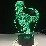 HAI LI Kreative Nachttischlampe für Kinder Tyrannosaurus Rex Neue Dinosaurier-LED-Nachtlichter mit...