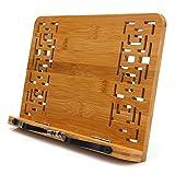 MEETYOO Leseständer Bookrest Buchhalter Kochbuchhalter für Küche Bambus Faltbar PC Buch/Tablet...